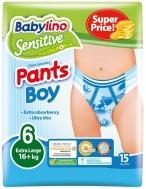 Πάνες Βρακάκι Babylino Pants No6 Boy 15τμχ (16+Kg)