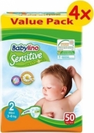 BABYLINO SENSITIVE No2 (3-6kg) 4X50τμχ