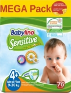 Babylino Sensitive Megapack N4+ Maxi Plus 9-20kg (76τεμ)