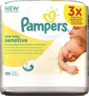 Μωρομάντηλα Pampers New Baby Sensitive 3x50 Τεμ