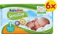 BABYLINO SENSITIVE No1 (2-5kg) 6X28τμχ